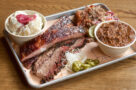 Brisket and rib platter at Cherry Street BBQ in Toronto.