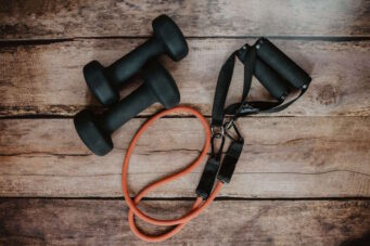 A photo of home gym exercise equipment