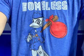 Homeless Jays t-shirt shared by Blue Jays pitcher Anthony Bass on Twitter