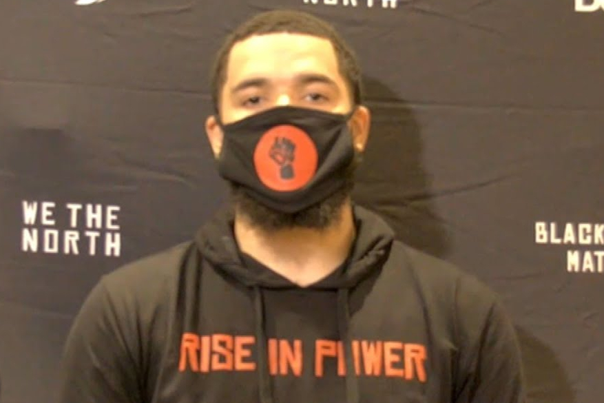 Toronto Raptors player Fred VanVleet