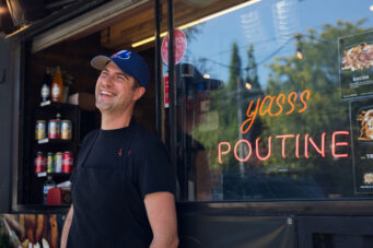 Marc Perreault, the owner of Nom Nom Nom Poutine.
