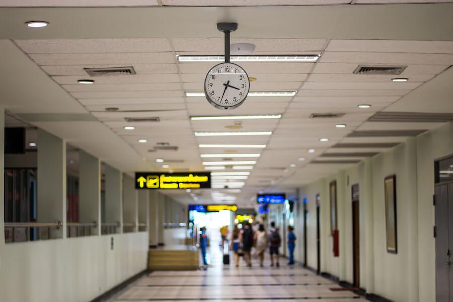 A photo of an airport air travel Canada