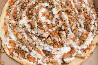 Shawarma pizza at Chitos