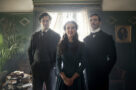 Henry Cavill, Millie Bobby Brown and Sam Claflin as the Holmes siblings in Enola Holmes.