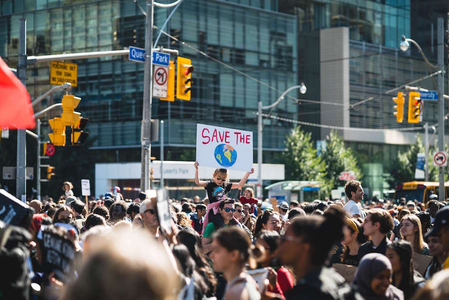 A photo of the Global Climate Strike in Toronto in September 2019
