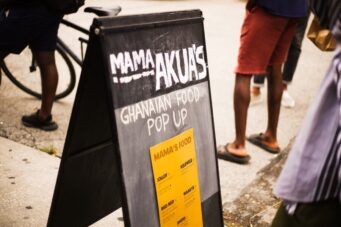 A photo of the menu for Mama Akua's Ghanian food pop-up in Toronto