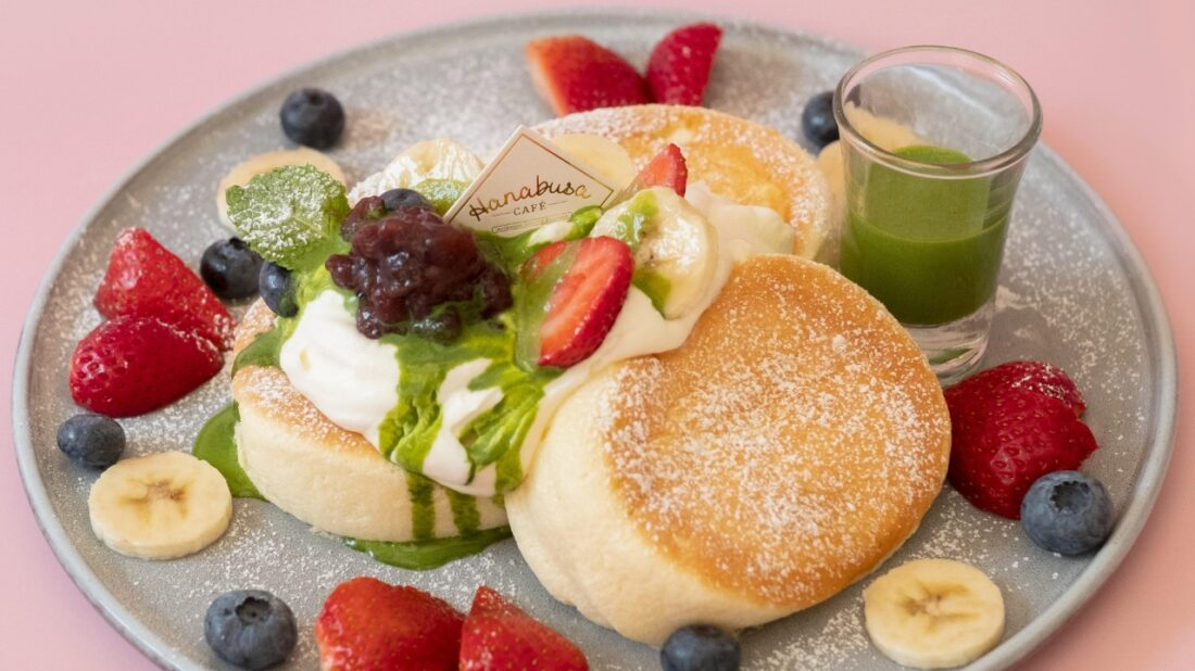 Matcha pancakes from Hanabusa Cafe, one of the participants in AsialiciousTO