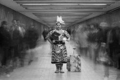 A photo from Nadya Kwandibens' series Concrete Indians