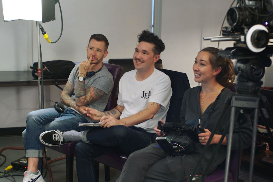 A photo of Chase Joynt, Amos Mac and Aisling Chin-Yee
