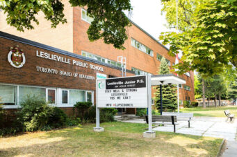 A photo of Leslieville Public School in Toronto, Ontario