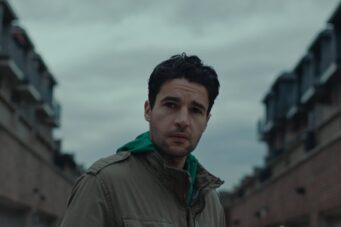 Christopher Abbott plays Andrea Riseborough playing Christopher Abbott in Possessor