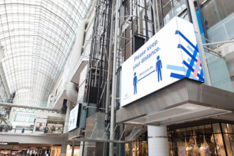 A photo of the Toronto Eaton Centre mall