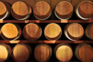 A photo of wine barrels in a winery in Ontario