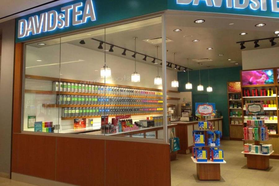 A photo of DavidsTea, which will be taken over by T. Kettle