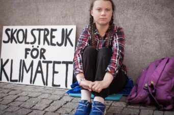 A photo of Greta Thunberg from the doc I Am Greta