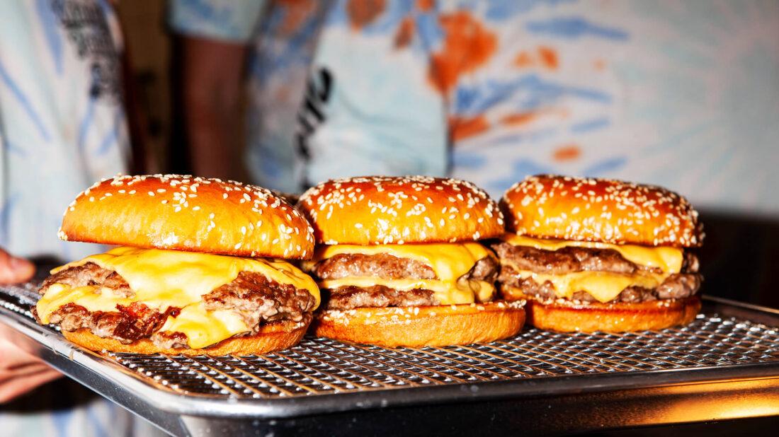 Burger shot of Matty's Patty's burger club