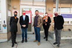 Alicia Hall, John Tory, Jill Andrew and Adam Vaughan at Nia Centre