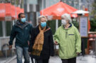 A photo of people wearing masks during the COVID19 pandemic in Toronto in October 2020