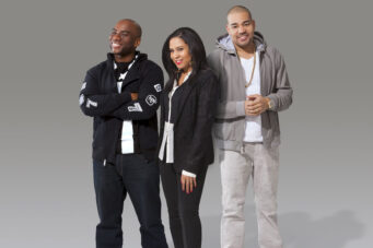 A photo of radio morning show hosts The Breakfast Club