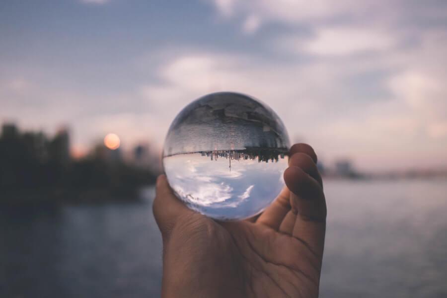 Toronto skyline in a crystal ball