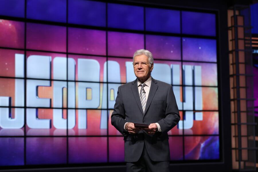 A photo of Jeopardy Host Alex Trebek