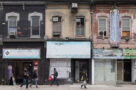 A photo of closed stores in Toronto Ontario COVID-19 pandemic