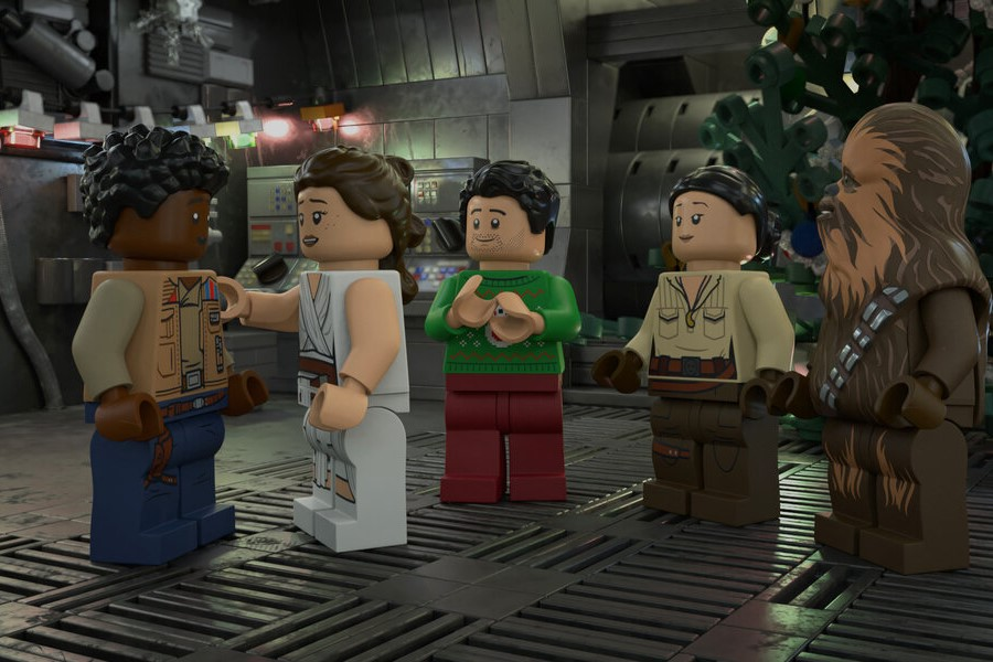A still from The LEGO Star Wars Holiday Special