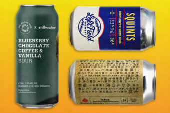 A photo of three ontario craft beers