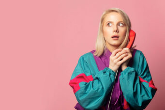 A photo of a person on the phone for a story about zoom fatigue