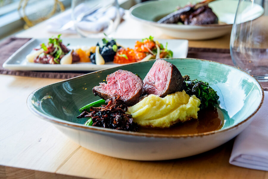 A photo of a meal at Toronto's ku-kum kitchen, an Indigenous restaurant