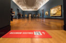 The Art Gallery of Ontario AGO reopens after lockdown in July 2020 with social distancing measures in place