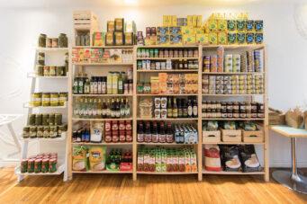 Stores shelves at Banu