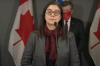 A photo of Toronto Medical Officer of Health Eileen de Villa