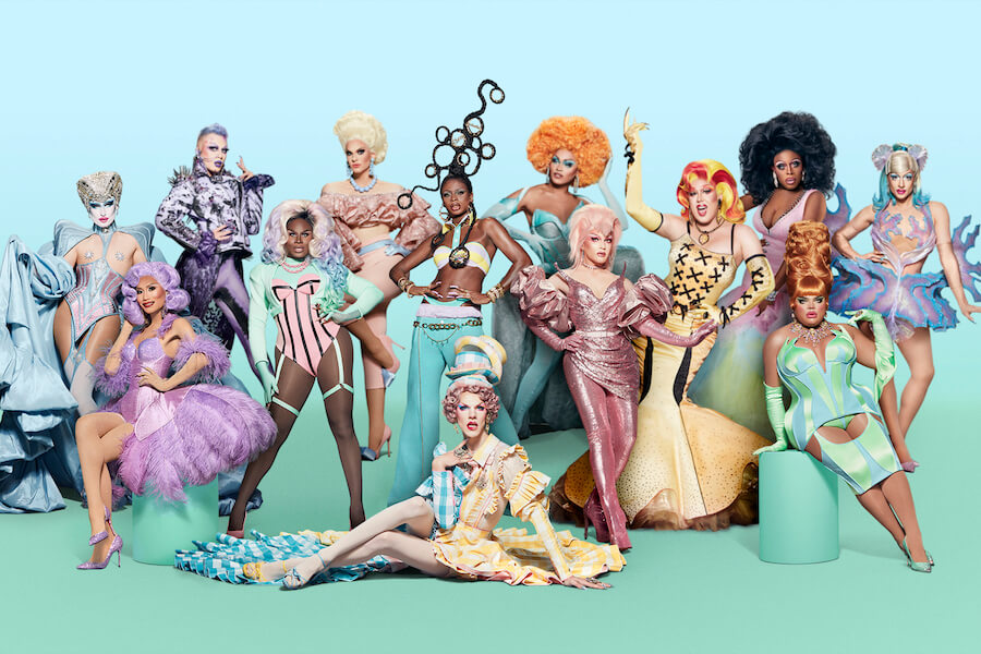 A photo of the cast of season 13 of RuPaul's Drag Race, available on Crave in Canada in January 2021