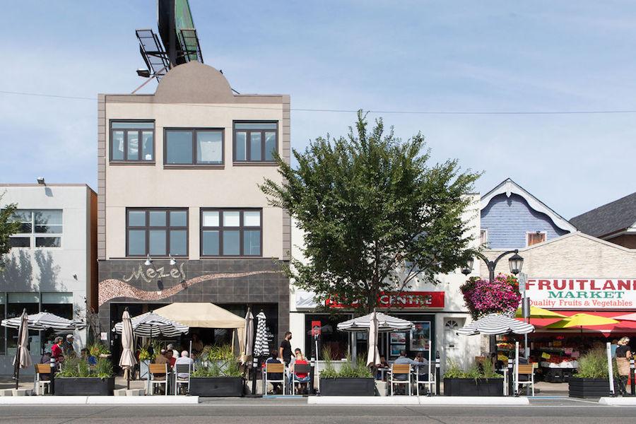 CafeTO patios on Danforth