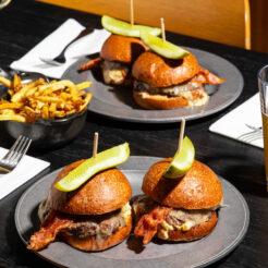 An image of burgers at The Drake Hotel