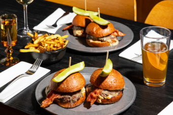 An image of burgers at The Drake Hotel