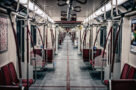 A photo of an empty TTC subway train in Toronto