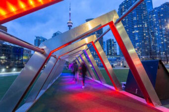 A light installation at Harbourfront Centre