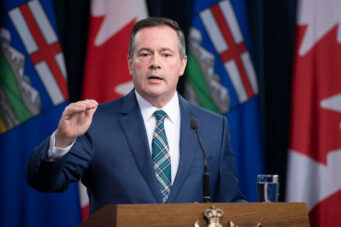 A photo of Alberta premier Jason Kenney