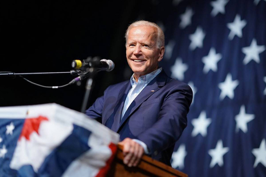 A photo of U.S. president-elect Joe Biden