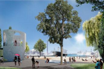 A rendering of Leslie Slip Lookout Park