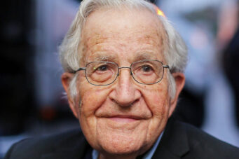 A photo of Noam Chomsky