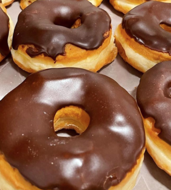 A photo of donuts from SanRemo Bakery in Etobicoke