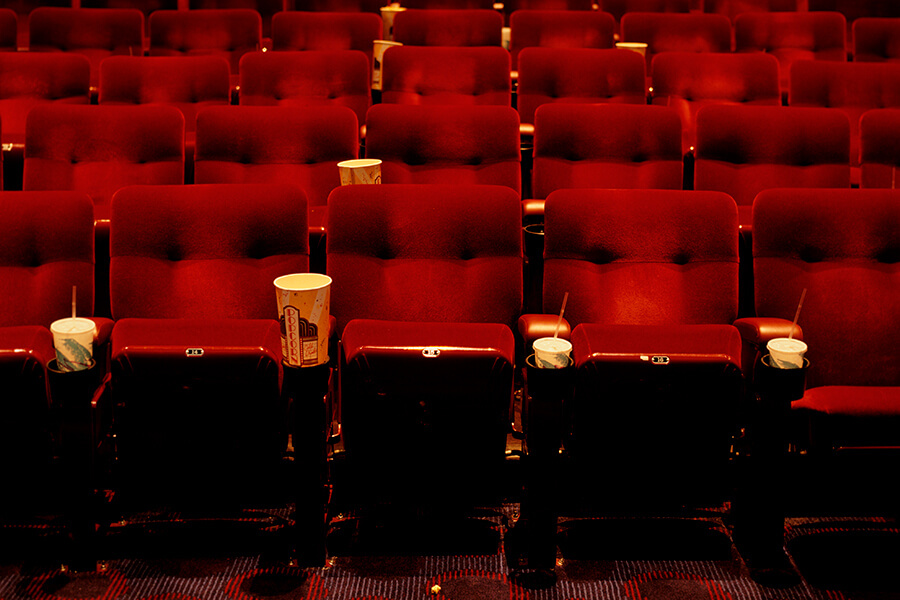 An image of an empty movie theatre