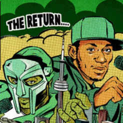 The special show poster created for MF DOOM's Toronto concert before Mos Def dropped off the tour.