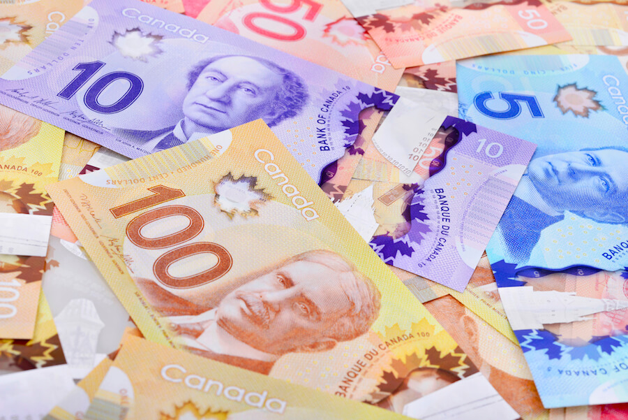A photo of Canadian money for basic income story