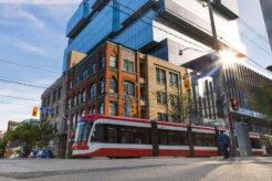 A TTC streetcar on King East