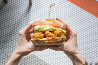 Ufficio's comfort food addition is a vegan chicken sandwich