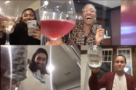 Screenshot from a virtual dinner party